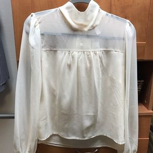 Anthropologie Mock Neck Blouse-S. NWT!